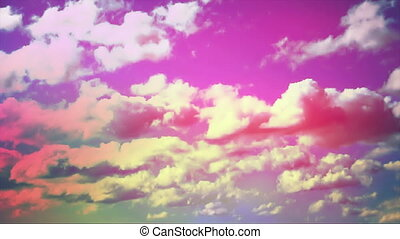 sunrise colorful sky pink - beautiful colorful cloudy...