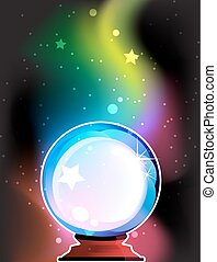 Crystal ball - Magic Crystal ball on a mysterious background...