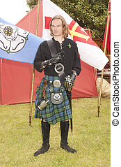 young Highlander of the Campbell clan in full regalia
