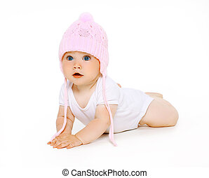 Cute adorable baby in hat