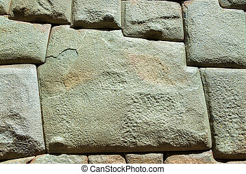 Inca Stonework - The famous 12 sided stone in old Incan...