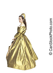 Lady in waiting - woman in an Elizabethan style period dress...