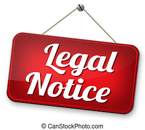 Legal notice - legal notice with terms and conditions for...
