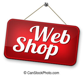 webshop road sign buy or sell at internet web shop online...