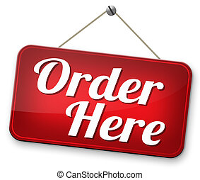 order here - Order here and now at online internet webshop