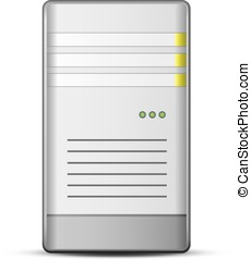 Server Icon - Server icon Vector illustration of computer...
