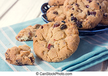 Sweet cookies - Sweet chip cookies with dry...
