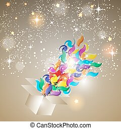 Christmas Glossy Star Background Vector Illustration EPS10