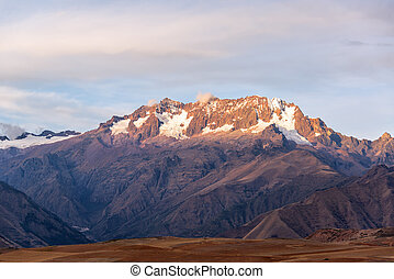 Andes Mountains View - View of the Andes mountains in the...