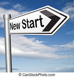 new start fresh begin or chance back to the beginning and...