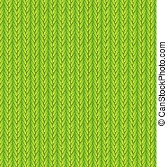 Green Sweater Texture Background. Vector Illustration.