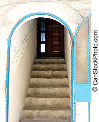 Safed Old City entrance to the house 2008 - The entrance to...
