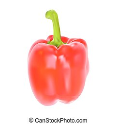 Colored Fresh Sweet Pepper Vector Isolated on White...