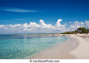natural beach Es Trenc - At the famous natural beach of Es...