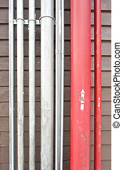 Red and silver pipe