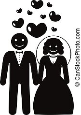 Stock vector marriage pictogram icon