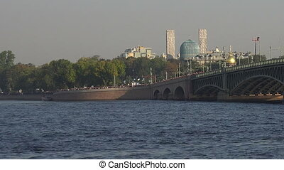 Troitsky bridge in St. Petersburg
