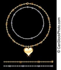 Gold and silver chain