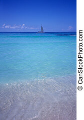 Blue lagoon - Bayahibe beach - Dominican republic - Blue...