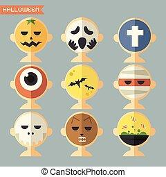 Halloween mask, avatar