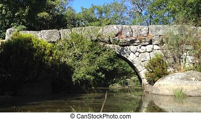 Panchorra bridge - Panchorra old granite stone bridge in...