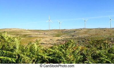 Windmill landscape - Clean and Renewable Energy, Wind Power,...