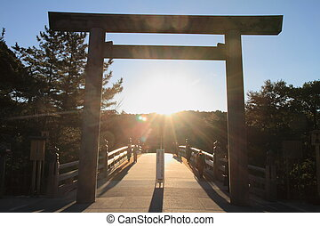 Uji bridge of Ise shrine in Mie, Japan