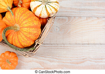 Autumn Basket Still Life - High angle image of a basket...
