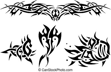 Abstract tattoos sea animals