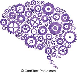 Brain Cogs And Gears