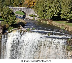 Cascade - Webster\'s Falls just outside Dundas, Ontario,...