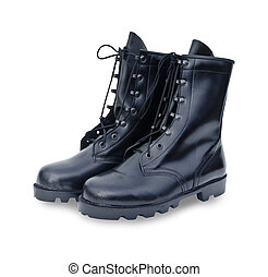 Black Leather Army Boots - The New Black Leather Army Boots