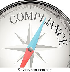 compass compliance - detailed illustration of a compass with...