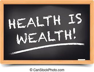 Blackboard Health - detailed illustration of a blackboard...