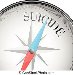 compass suicide - detailed illustration of a compass with...