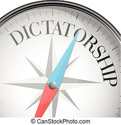 compass dictatorship - detailed illustration of a compass...