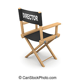 3d Rear view movie directors chair - 3d render of a movie...
