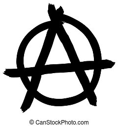 Anarchy symbol isolated on white background, vector