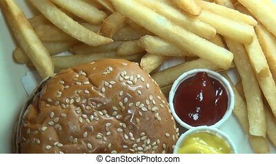 Hamburgers, French Fries, Fast Food