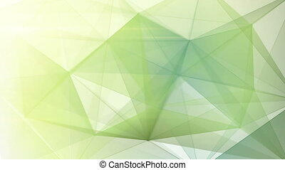 abstract triangle geometrical back - pale green triangles...