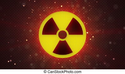 radioactive symbol loopable - radioactive symbol. computer...