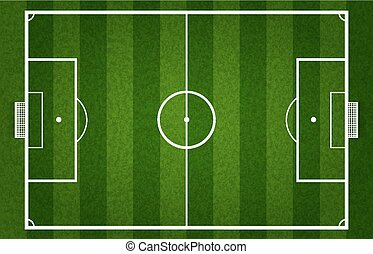 Soccer field - Vector green soccer field or football field,...