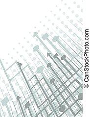 Blue tech cover - Creative design of blue tech cover