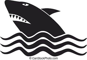 Danger shark - Creative design of danger shark