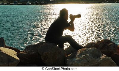 Photographer near the Sea