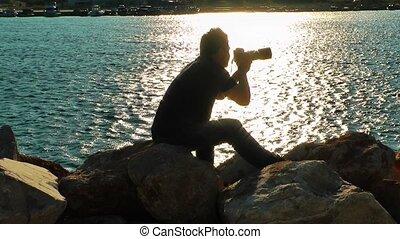Photographer near the Sea