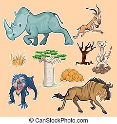 Africa Animals and Trees Collection S - Collection Sets of...