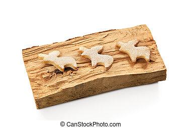 Gingerbread christmas reindeer cookies