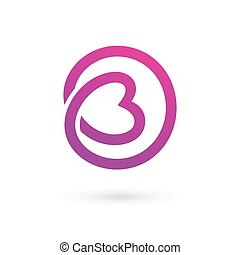 Letter B heart logo icon design template elements Vector...