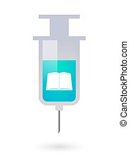 Syringe with a book